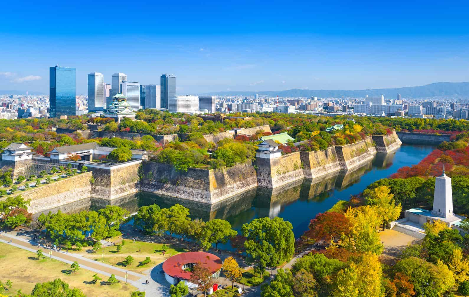 best place to stay in osaka - osaka castle